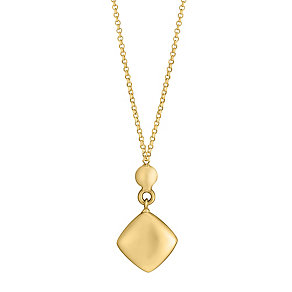 9ct gold cube drop necklet - Product number 3071448