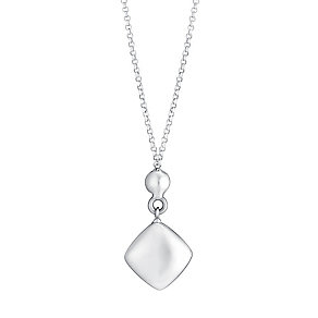 9ct white gold cube drop necklet - Product number 3071456