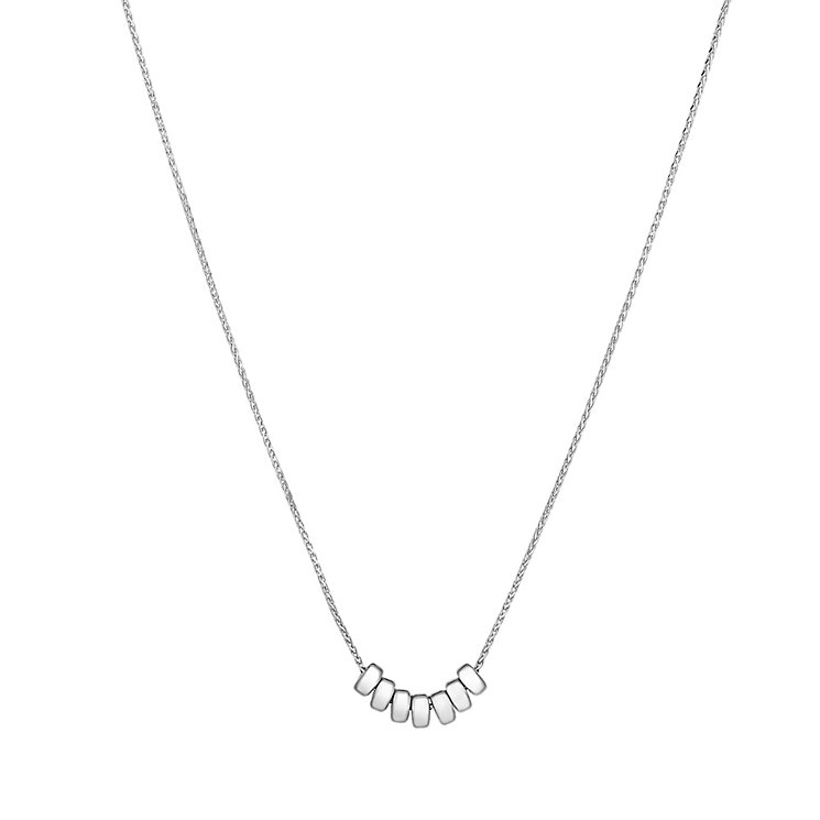 9ct white gold bead necklet - Product number 3071545