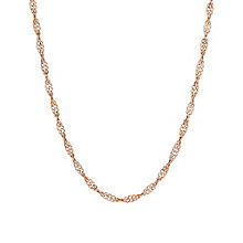 9ct rose gold & rhodium-plated cut out necklet - Product number 3071561