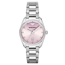 Emporio Armani ladies' stainless steel bracelet watch - Product number 3071847