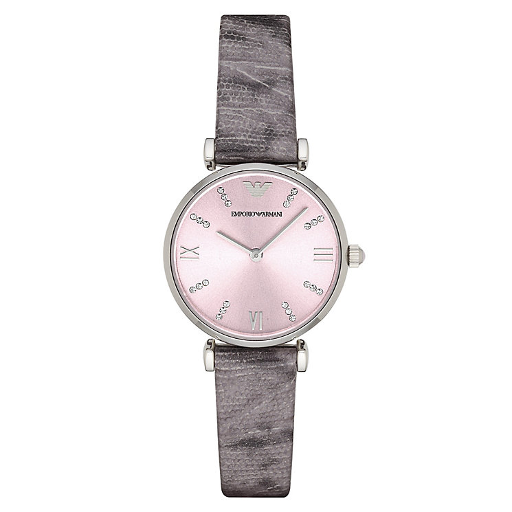 Emporio Armani Ladies' Stone Set Pink Dial Watch - Product number 3071855