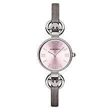 Emporio Armani Ladies' Stone Set Pink Strap Watch - Product number 3071871
