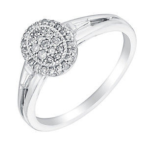Sterling silver 20pt diamond ring - Product number 3072495