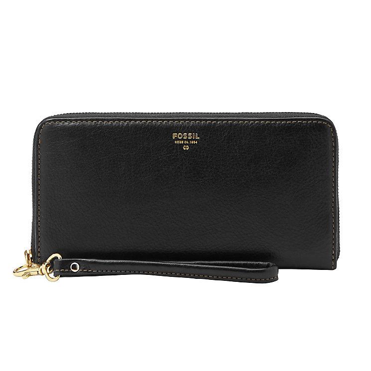 Fossil Sydney black zip clutch bag - Product number 3074137