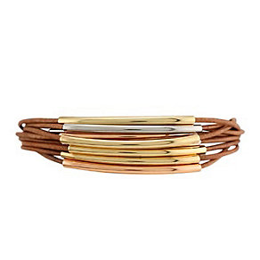 Fossil Three Colour Brown Leather Wrap Bracelet - Product number 3075974
