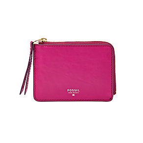 Fossil Sydney ladies' fuchsia leather zip coin purse - Product number 3076164