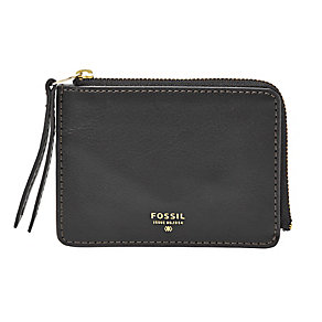 Fossil Sydney ladies' black zip coin purse - Product number 3076180