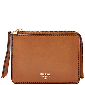 Fossil Sydney ladies' camel leather zip coin purse - Product number 3076199