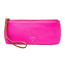 Fossil ladies' pink leather cosmetic bag - Product number 3076865