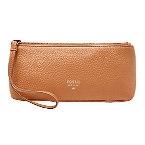 Fossil ladies' camel leather cosmetic bag - Product number 3077020