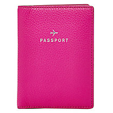 Fossil ladies' pink leather passport cover - Product number 3077373