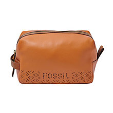 Fossil ladies' camel leather travel bag - Product number 3077543
