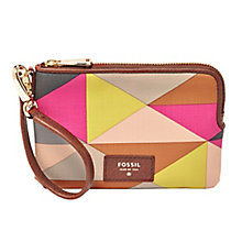 Fossil ladies' printed wristlet - Product number 3077578