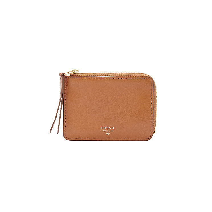 Fossil Sydney ladies' camel leather zip coin purse - Product number 3077586
