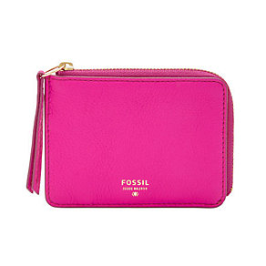 Fossil Sydney pink leather zip coin purse - Product number 3077594