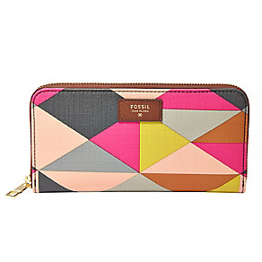 Fossil Sydney ladies' printed leather clutch bag - Product number 3077918