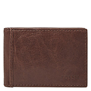 Fossil Ingram brown leather money clip wallet - Product number 3078671