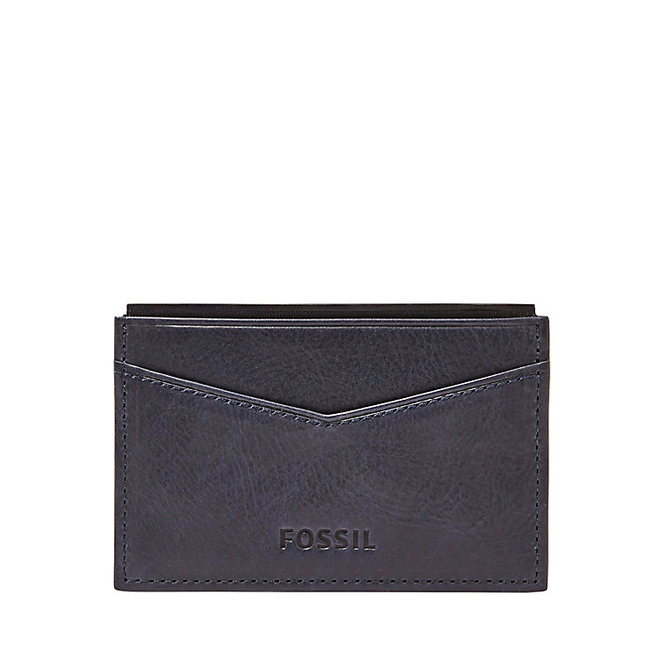Fossil Truman navy leather card case - Product number 3078892