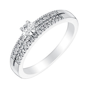 Sterling silver 16pt diamond ring - Product number 3079732