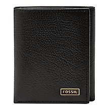 Fossil Omega black leather trifold wallet - Product number 3079929