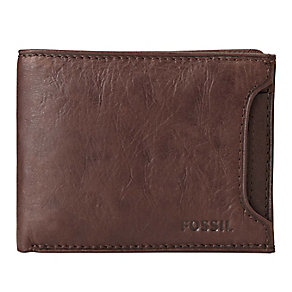 Fossil Ingram brown leather sliding 2 in 1 wallet - Product number 3080277