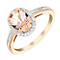 9ct rose gold 10pt diamond & morganite ring - Product number 3080617