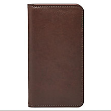 Fossil dark brown leather iPhone 6 wallet - Product number 3080749