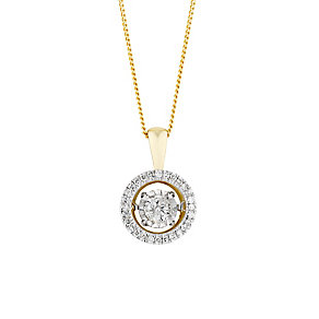 9ct yellow gold 33pt diamond pendant - Product number 3081052