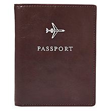 Fossil Cordovan dark brown leather passport cover - Product number 3081095