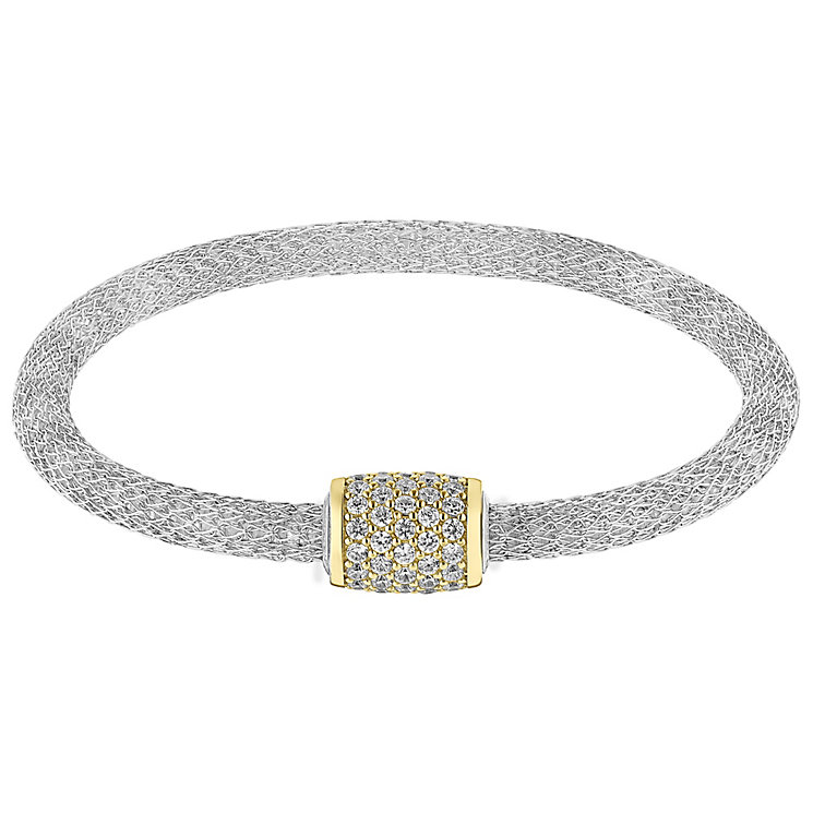 Silver & 9ct gold magnetic bangle - Product number 3081745