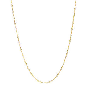 9ct gold adjustable 24 inch singapore chain - Product number 3081893