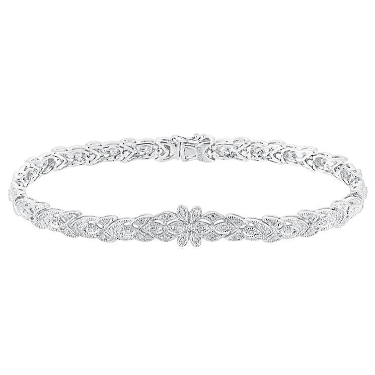 Sterling silver 15pt diamond bracelet - Product number 3081923