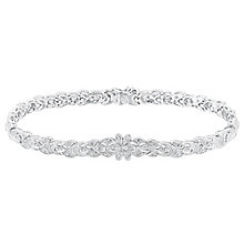 Sterling silver 15pt diamond bracelet - Product number 3081923