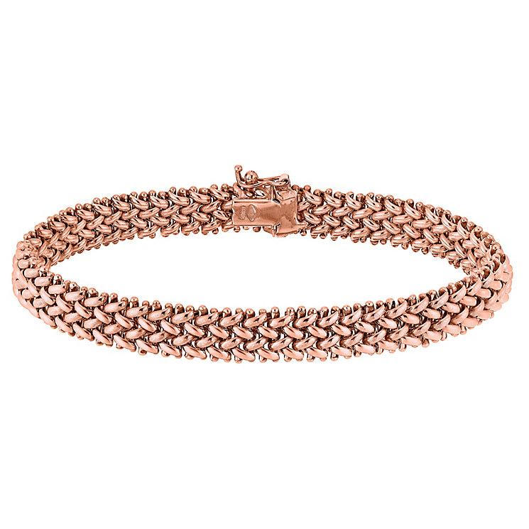 9ct rose gold 7mm multilink bracelet - Product number 3081931