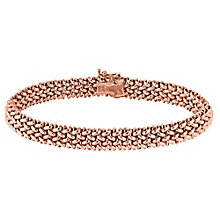 9ct rose gold 7mm multilink bracelet - Product number 3081931