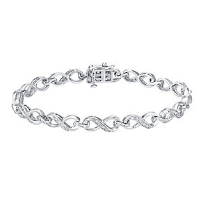 Sterling silver 25pt diamond bracelet - Product number 3081966