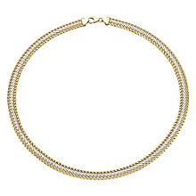 9ct gold and rhodium-plated polished collarette - Product number 3081974