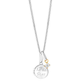 Children's Silver, Gold & Cubic Zirconia Little Star Locket - Product number 3082091