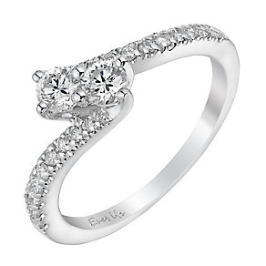 Ever Us 14ct white gold 1/2 carat two stone diamond ring - Product number 3082237