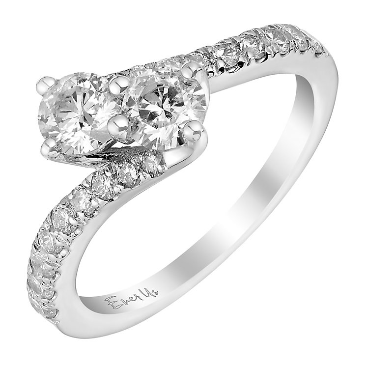 Ever Us 14ct white gold 1ct two stone twist diamond ring - Product number 3083810