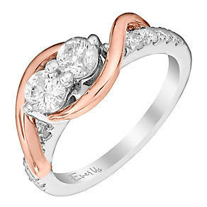 Ever Us 14ct rose & white gold 1ct two stone diamond ring - Product number 3083977
