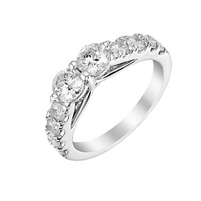 14ct white gold 1.50ct two stone diamond ring - Product number 3084124