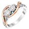 Ever Us 14ct rose & white gold 1.50ct two stone diamond ring - Product number 3084310