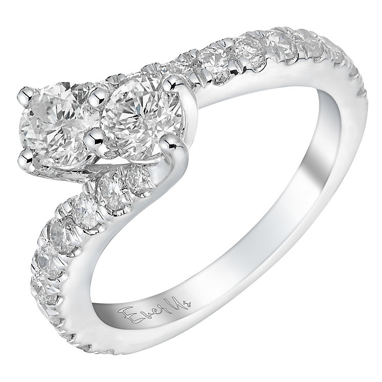 Ever Us 14ct white gold 1.50ct two stone diamond twist ring - Product number 3084450