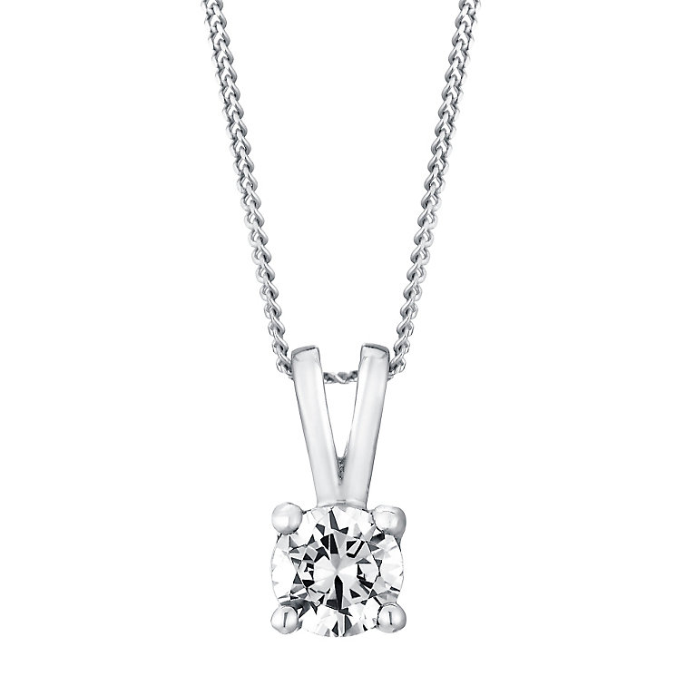 18ct white gold 40pt diamond pendant - Product number 3084655
