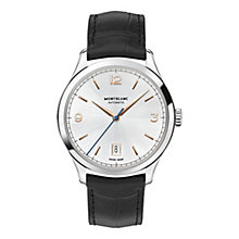 Montblanc Heritage men's black leather strap watch - Product number 3085201
