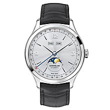 Montblanc Heritage men's stainless steel leather strap watch - Product number 3085236