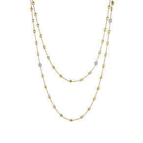 Marco Bicego Siviglia 18ct yellow gold 60pt diamond necklace - Product number 3086585
