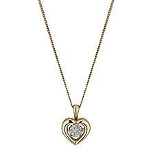 Diamonds in Rhythm 9ct Gold Diamond Heart Pendant - Product number 3087158